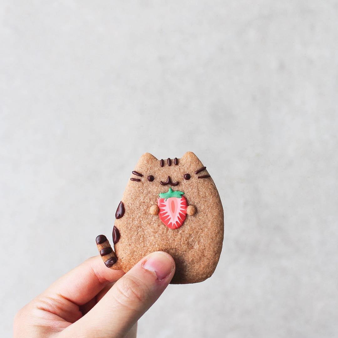 Cat Lover Aesthetic - Pusheen cookie