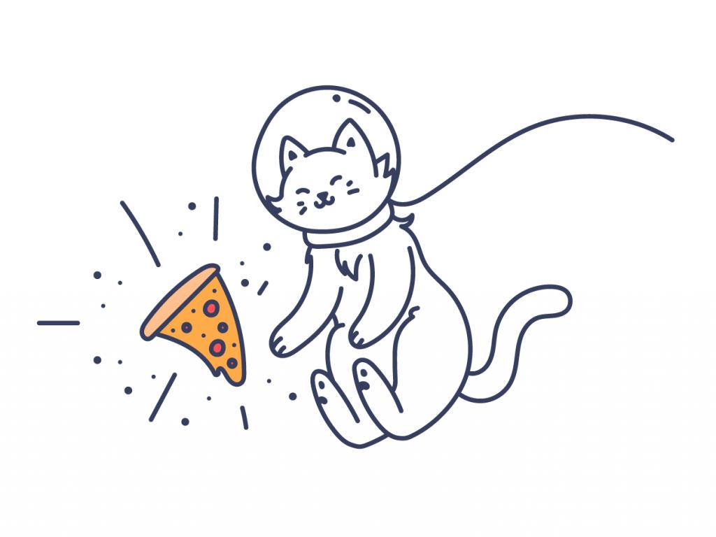 Cat Illustrations - Space Love. Art by Keitsy Castillo