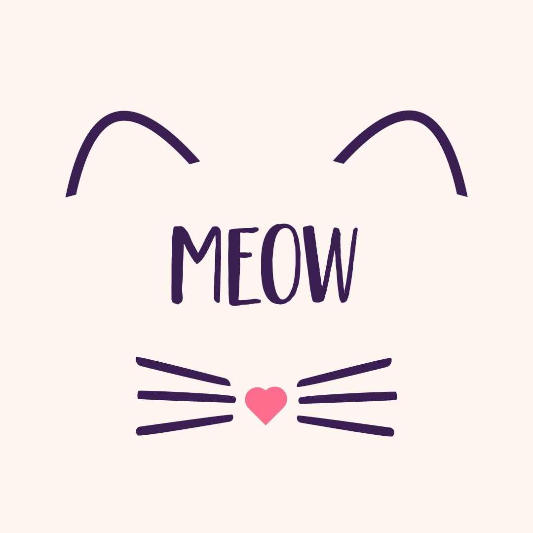 Meow Cat Face Illustration