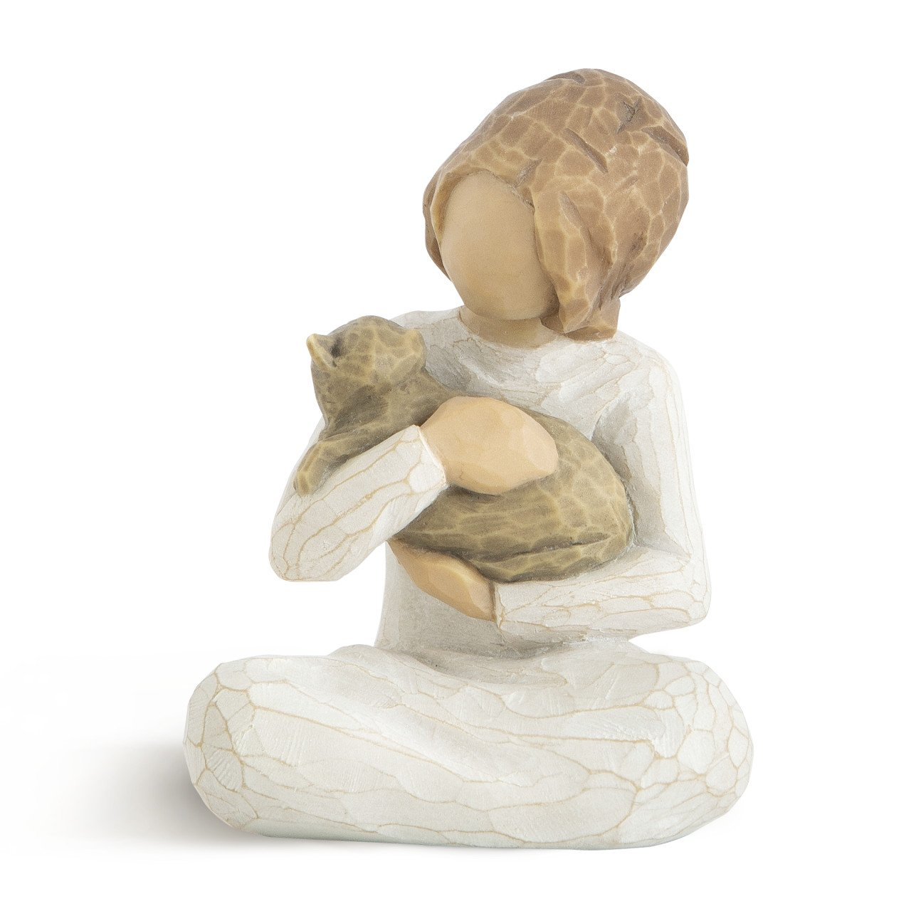 Willow Tree Girl And Cat Figure