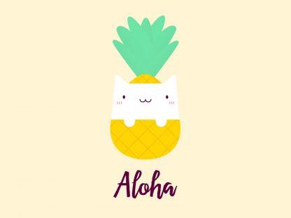 Cute Pineapple Cat T-Shirt