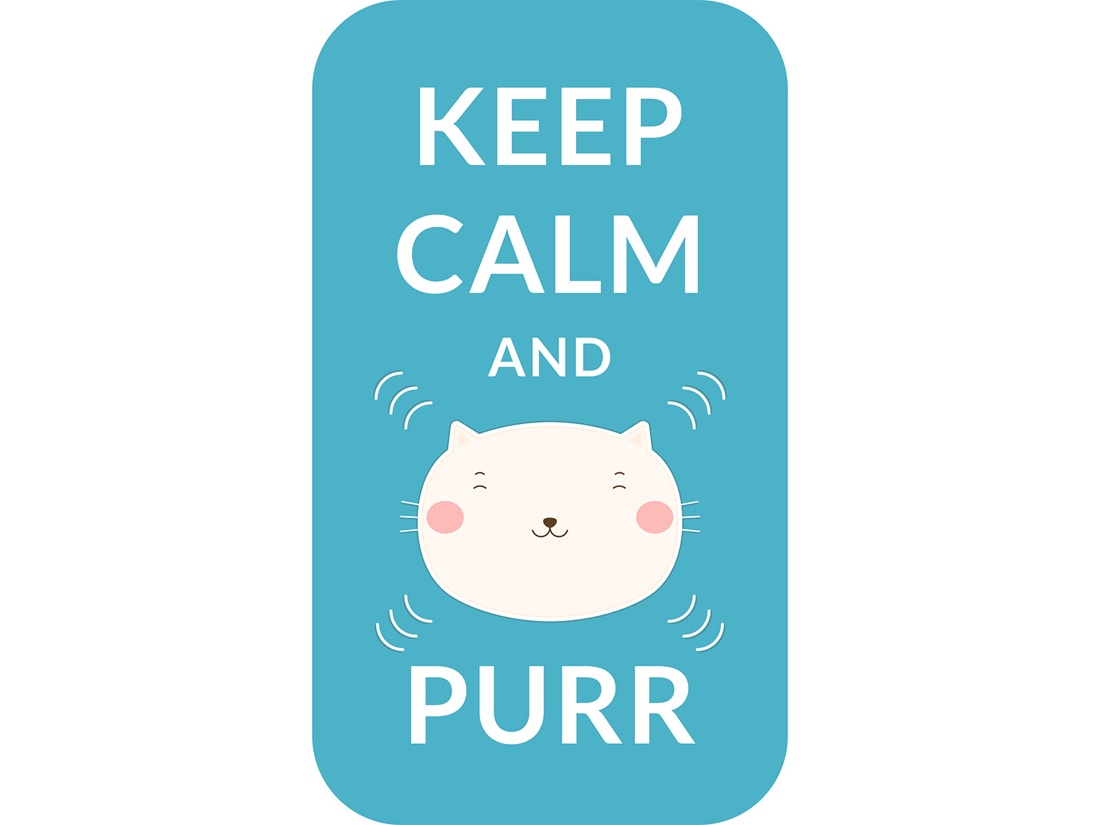 Keep Calm and Purr cute cat pun
